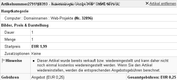 ebay verkaufen gebühren